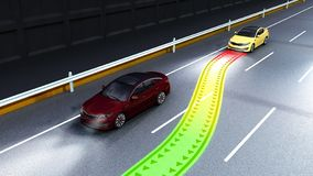 Modern concept of a safe car Collision monitoring system 3d rend. Er image stock illustration
