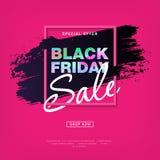 Modern concept voor Black Friday-Verkoopaffiche Royalty-vrije Stock Afbeeldingen