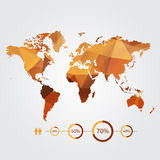 Modern concept of world map with infographic Stock Photos