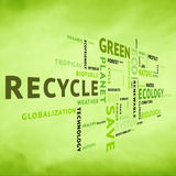 Modern conceptual eco green tag Royalty Free Stock Images