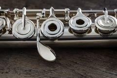 Modern Concert Flute Stock Photo