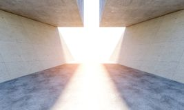 Modern concrete abstract interior Stock Images
