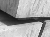 Modern concrete architecture abstract background Royalty Free Stock Image