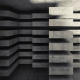 Modern concrete architecture background 3d Royalty Free Stock Image