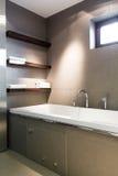Modern concrete bathroom Royalty Free Stock Photography