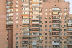 Modern concrete building Stock Photo