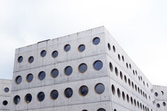 Modern concrete building library Royalty Free Stock Images