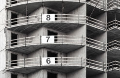 Modern concrete building under construction Royalty Free Stock Photos