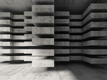 Modern concrete 3d architecture background Stock Photography