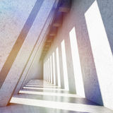 Modern concrete hall Royalty Free Stock Image