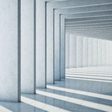 Modern concrete hall Royalty Free Stock Photo