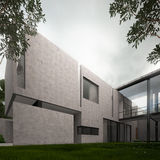 Modern concrete minimalist home Royalty Free Stock Images