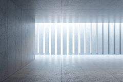 Modern concrete space interior, 3d rendering stock photography