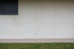 Modern Concrete Wall Stock Photo