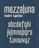 Modern condensed sanserif minimalist font stock photo