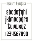 Modern condensed sanserif narrow font royalty free stock photo