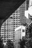 The modern condo building at Sukhumvit road in Bangkok royalty free stock photography