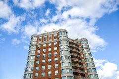 Modern condo buildings with huge windows. In Montreal, Canada Royalty Free Stock Photography