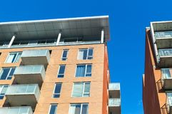 Modern condo buildings with huge windows in Montreal Royalty Free Stock Images