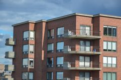 Modern condo buildings with huge windows. In Montreal, Canada Stock Images