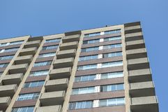 Modern condo buildings with huge windows. In Montreal, Canada Stock Photography