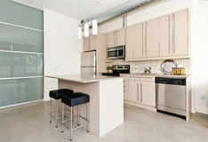 Modern condo kitchen Stock Photography