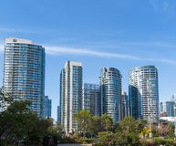 Modern Condo Towers. Condominium development showing urban density stock photos