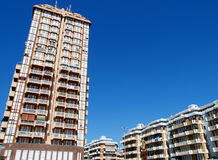 Modern condominium. Buildings and square in Nettuno sea town, Italy stock images