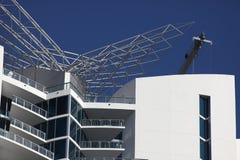 Modern Condominium. On a clear blue sky stock photo