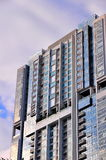 Modern condominium. In business district stock image