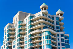Modern Condominium with Balconies Stock Images