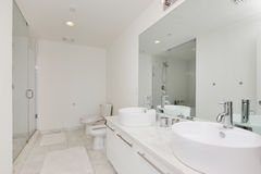 Modern condominium bathroom Stock Photos