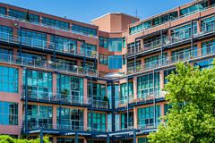 Modern condominium building in Canton, Baltimore, Maryland.  royalty free stock photography