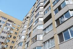 Modern condominium building real etate in city.  stock photography