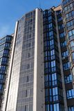 Modern condominium building real etate in city with blue sky royalty free stock photos