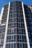 Modern condominium building real etate in city with blue sky stock images