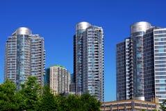 Modern condominium complex royalty free stock images