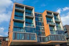 Modern condominium in the Hafencity Stock Photos