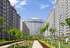 Modern Condominium Towers Stock Image