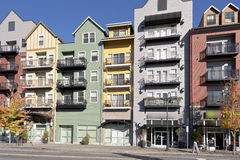 Modern Condominiums In Gresham Oregon. Royalty Free Stock Images