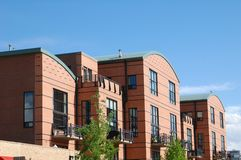 Modern Condos. In the afternoon sun Stock Image