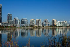 Modern condos from across Humber Bay Royalty Free Stock Images
