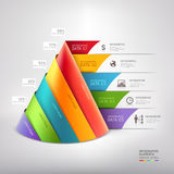 Modern Cone 3d Staircase Diagram Business. Royalty Free Stock Photos