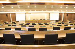 modern conference hall stock images