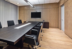 Modern conference room. In a bank stock image