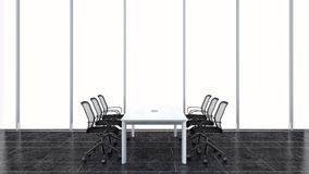 Modern conference room. 3D rendering. Stock Photos