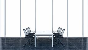 Modern conference room. 3D rendering. Royalty Free Stock Photos
