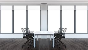 Modern conference room. 3D rendering. Stock Image
