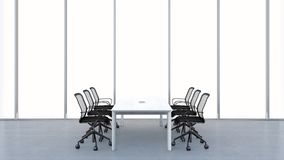 Modern conference room. 3D rendering. Stock Photo
