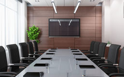 Modern conference room. (done in 3d